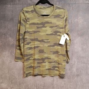 Lucky brand camouflage top